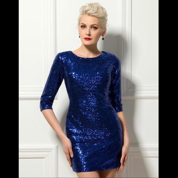 Sapphire Blue Plus Size Dresses